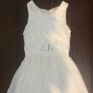 WORN ONCE WHITE CHIFFON DRESS